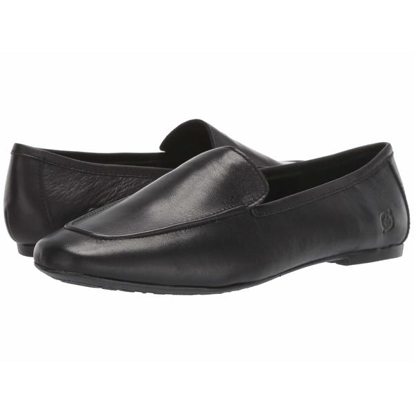 ボーン レディース スリッポン・ローファー シューズ Petil Black Full Grain Leather
