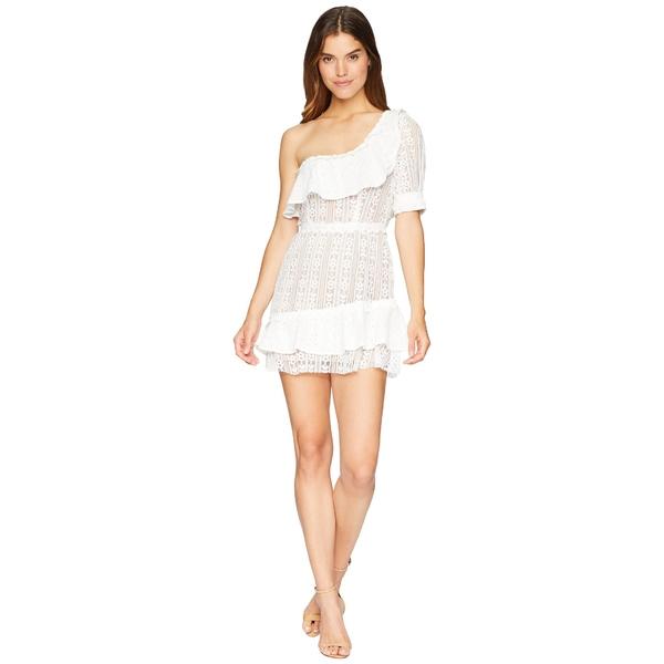 フォーラブアンドレモン レディース ワンピース トップス Lovebird Lace Mini Dress White