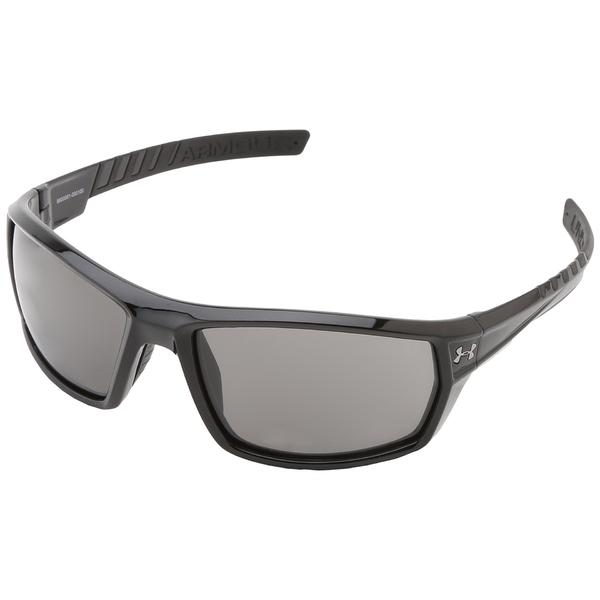 100%本物保証! アンダーアーマー メンズ サングラス・アイウェア アクセサリー UA Ranger Shiny Black Frame w/ Black Rubber/Gray Lens, ユキチョウ e548e3e1