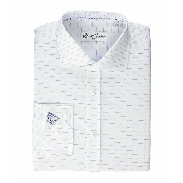 ロバートグラハム メンズ シャツ トップス Marty Long Sleeve Dress Shirt White