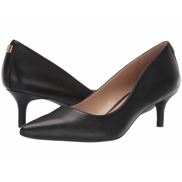 ラルフローレン レディース ヒール シューズ Adrienne Black Super Soft Leather