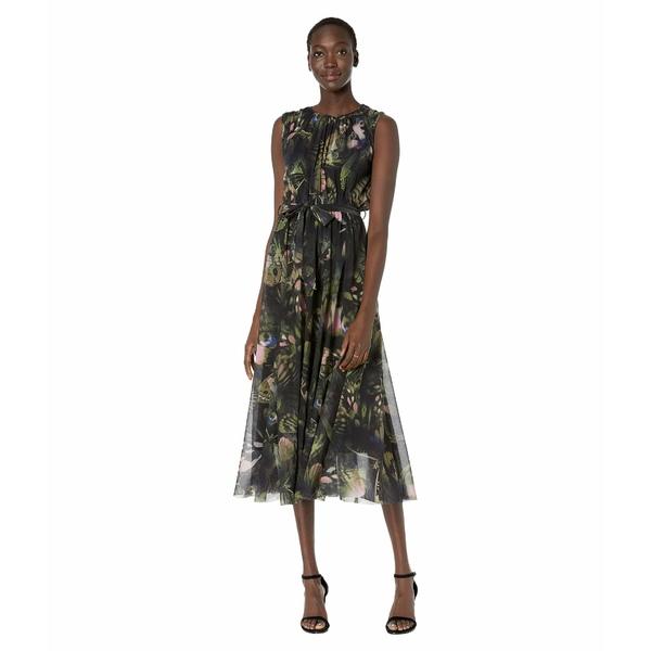 フィッジ レディース ワンピース トップス Sleeveless Belted Butterfly Dress Pineta