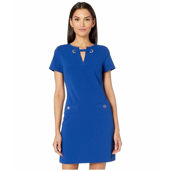 トミー ヒルフィガー レディース ワンピース トップス Grommet Pocket Dress Marina Blue