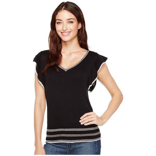 スプレンディット レディース ニット&セーター アウター Short Sleeve Pullover Black/Natural