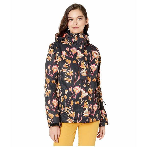 ロキシー レディース コート アウター Torah Bright Jetty Snow Jacket True Black Magnolia
