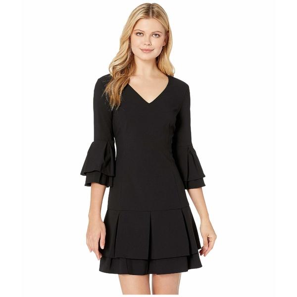 ランドリーバイシェリーシーガル レディース ワンピース トップス V-Neck Tiered Pleated Dress Black