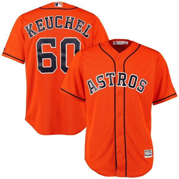 マジェスティック メンズ ユニフォーム トップス Houston Astros Dallas Keuchel Majestic Official Cool Base Player Jersey Orange