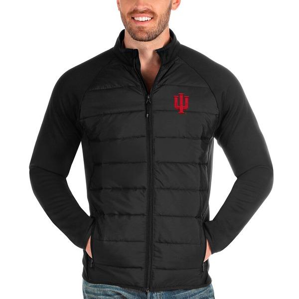 アンティグア メンズ ジャケット&ブルゾン アウター Indiana Hoosiers Antigua Altitude Full-Zip Jacket Black