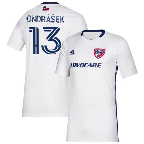 アディダス メンズ ユニフォーム トップス Zdenk Ondrek FC Dallas adidas 2020 Secondary Replica Player Jersey White