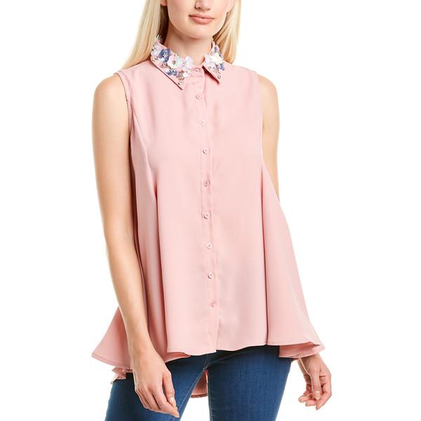 【最新入荷】 グラシア レディース カットソー トップス Gracia Embellished Top pink, スコアUP専門店!TOPGOLF 87aa571c