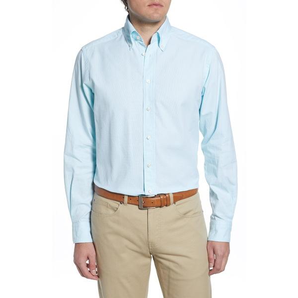 エトン メンズ シャツ トップス Soft Casual Line Contemporary Fit Oxford Casual Shirt Green