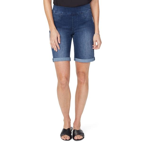 エヌワイディージェイ レディース カジュアルパンツ ボトムス Roll Cuff Pull-On Denim Shorts Clean Solana