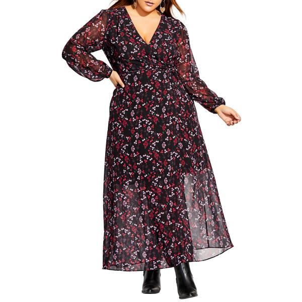 シティーシック レディース ワンピース トップス Perfect Posy Long Sleeve Maxi Dress Perfect Posy