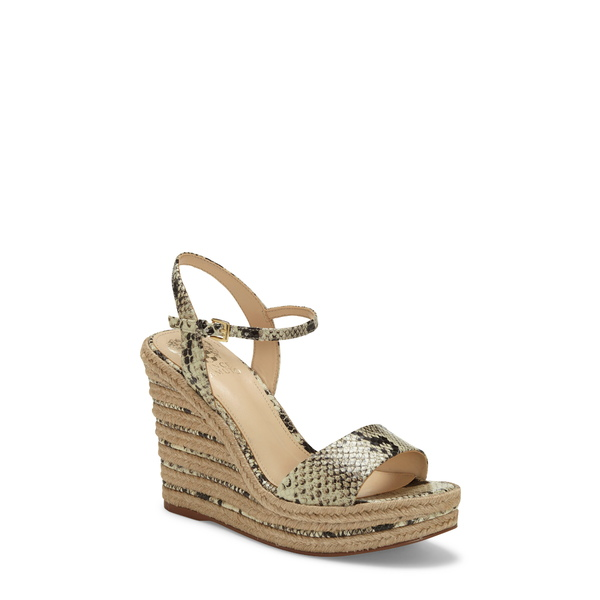 ヴィンスカムート レディース サンダル シューズ Marybell Platform Wedge Sandal Snake Print Leather
