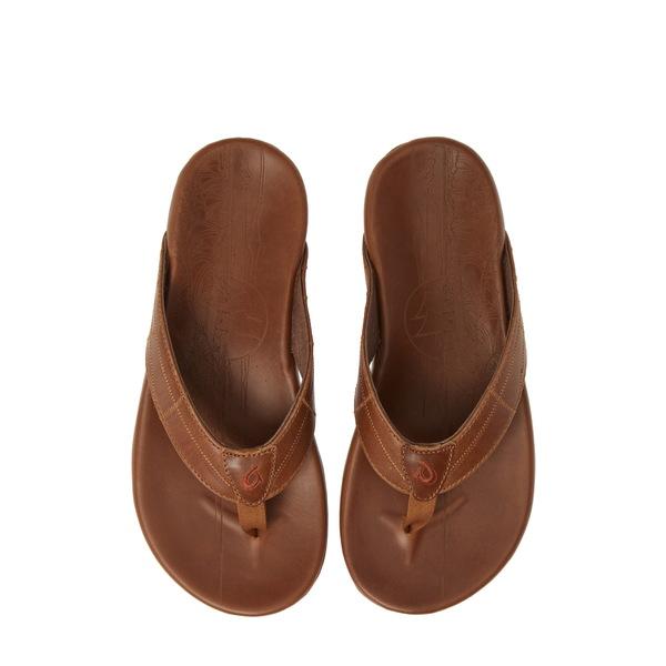 オルカイ メンズ サンダル シューズ Hokule誕 Kia Flip Flop Tan Leather