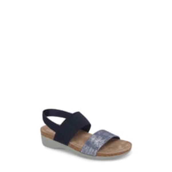 ムンロー レディース サンダル シューズ 'Pisces' Sandal Blue/ Silver Metallic