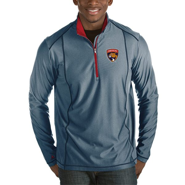 アンティグア メンズ ジャケット&ブルゾン アウター Florida Panthers Antigua Tempo Desert Dry 1/2Zip Pullover Jacket Charcoal