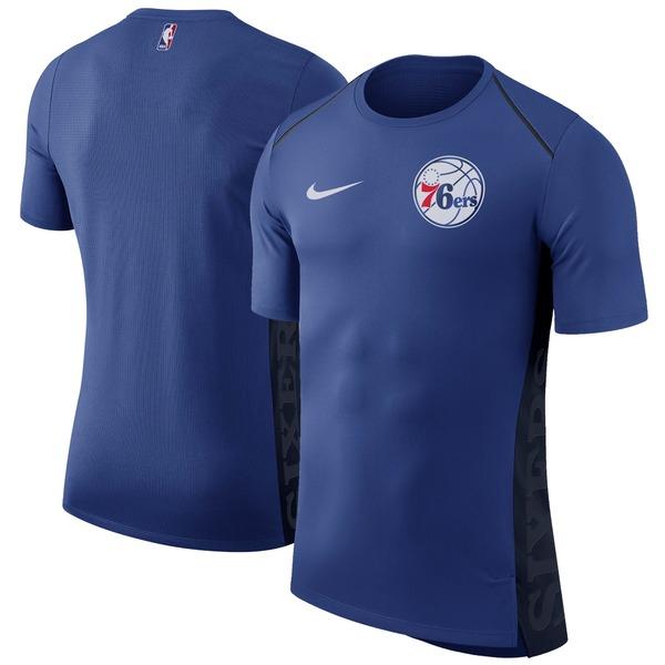ナイキ メンズ Tシャツ トップス Philadelphia 76ers Nike Elite Shooter Performance TShirt Royal