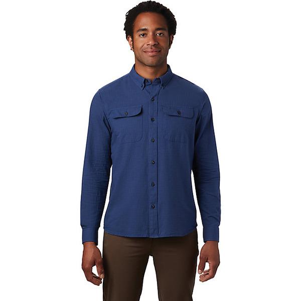 マウンテンハードウェア メンズ シャツ トップス Mountain Hardwear Men's Crystal Valley LS Shirt Better Blue