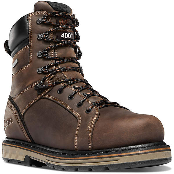 ダナー メンズ ブーツ&レインブーツ シューズ Danner Men's Steel Yard 8IN Insulated WP Steel Toe Boot Brown