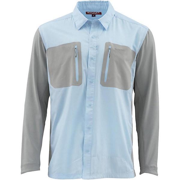 シムズ メンズ シャツ トップス Simms Men's TriComp Cool LS Shirt Mist