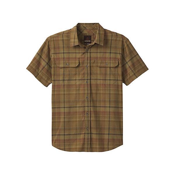 プラーナ メンズ シャツ トップス Prana Men's Cayman Plaid Shirt Dark Khaki