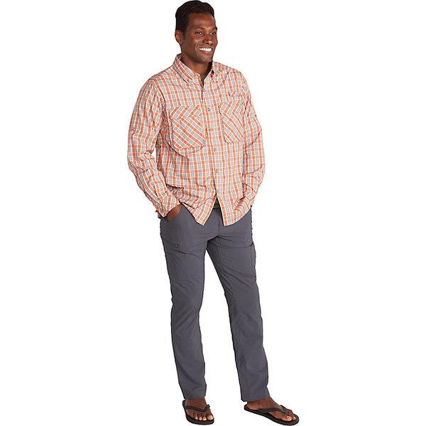 エクスオフィシオ メンズ シャツ トップス ExOfficio Men's Air Strip Check Plaid LS Shirt Gold Flame