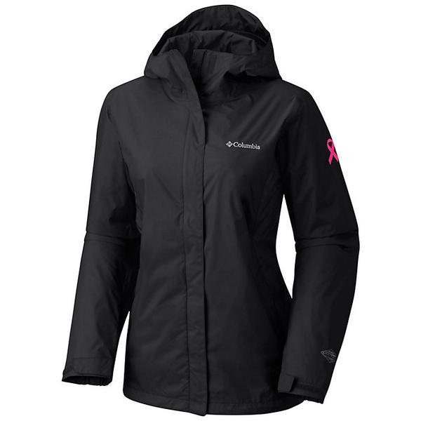 コロンビア レディース ジャケット&ブルゾン アウター Columbia Women's Tested Tough in Pink Rain Jacket II Black