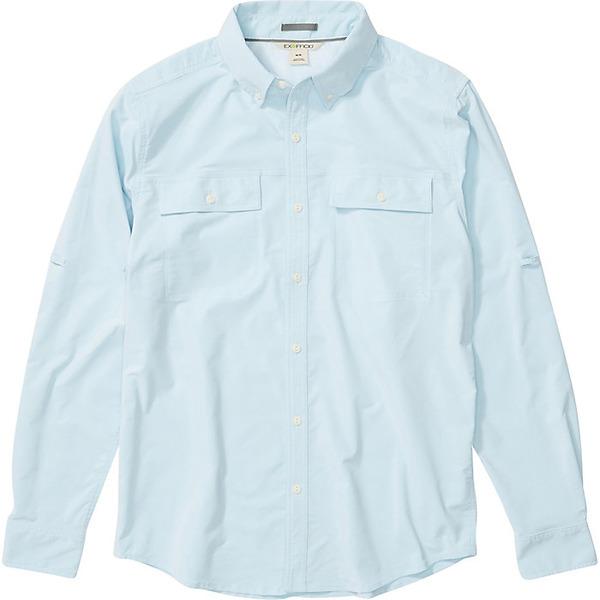 エクスオフィシオ メンズ シャツ トップス ExOfficio Men's Vizcaino LS Shirt Blue Bell