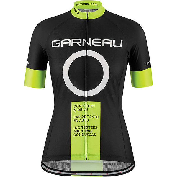 イルスガーナー レディース シャツ トップス Louis Garneau Women's Dont Text and Drive Jersey Black / Yellow