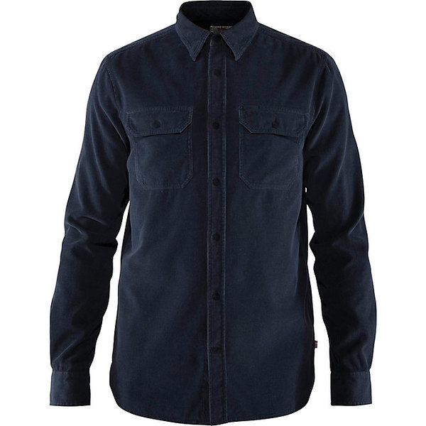 フェールラーベン メンズ シャツ トップス Fjallraven Men's Ovik Cord Shirt Dark Navy