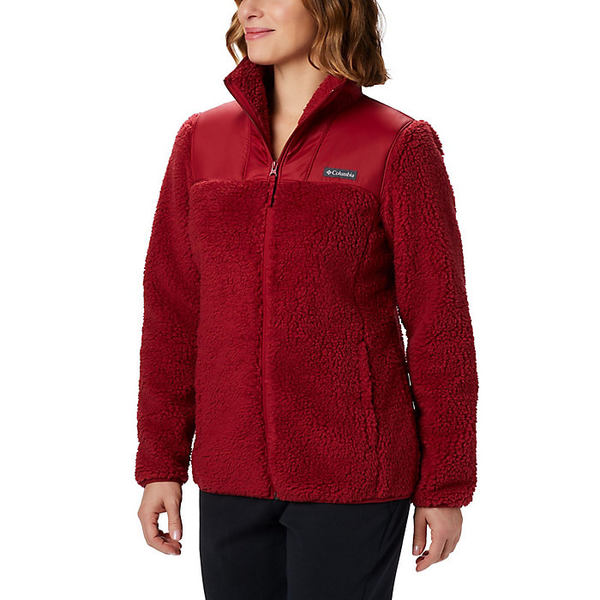 コロンビア レディース ジャケット&ブルゾン アウター Columbia Women's Winter Pass Fleece Full Zip Beet
