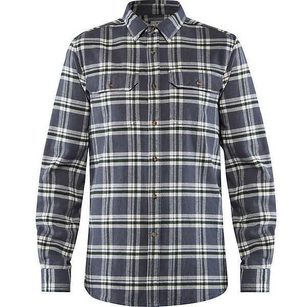 フェールラーベン メンズ シャツ トップス Fjallraven Men's Ovik Heavy Flannel Shirt Dusk
