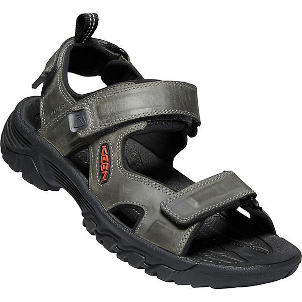 キーン メンズ サンダル シューズ KEEN Men's Targhee III Open Toe Sandal Grey / Black