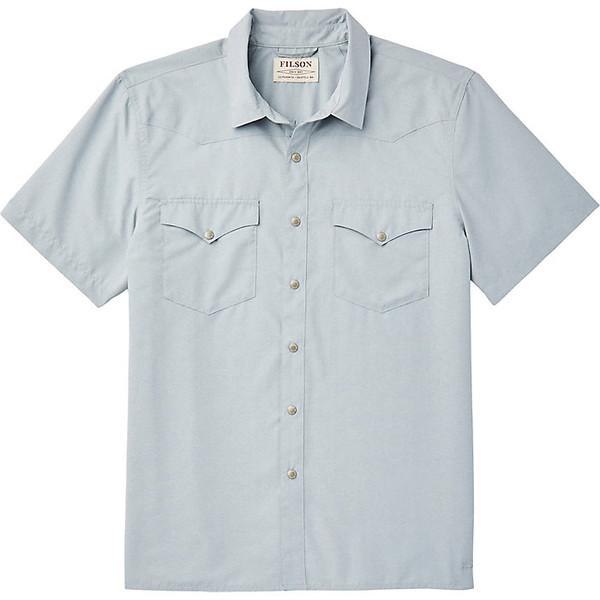 フィルソン メンズ シャツ トップス Filson Men's Snap Front SS Shirt Blue Stone