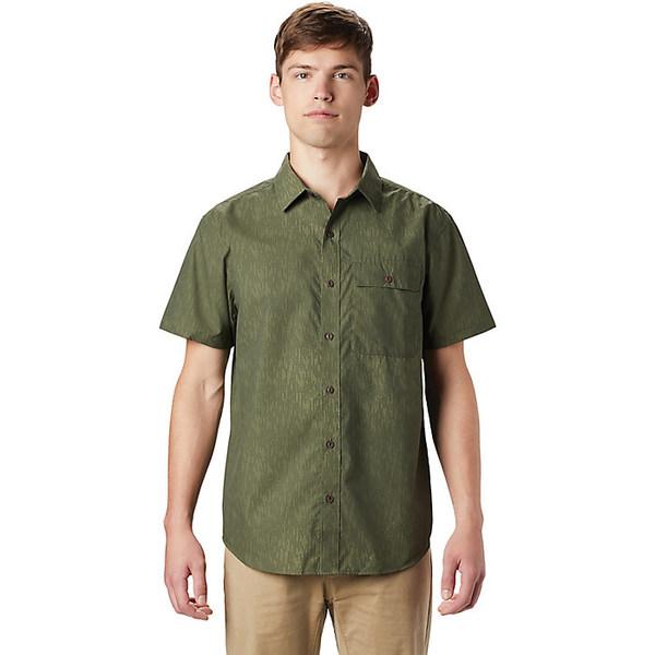 マウンテンハードウェア メンズ シャツ トップス Mountain Hardwear Men's Greenstone SS Shirt Dark Army Strata Print