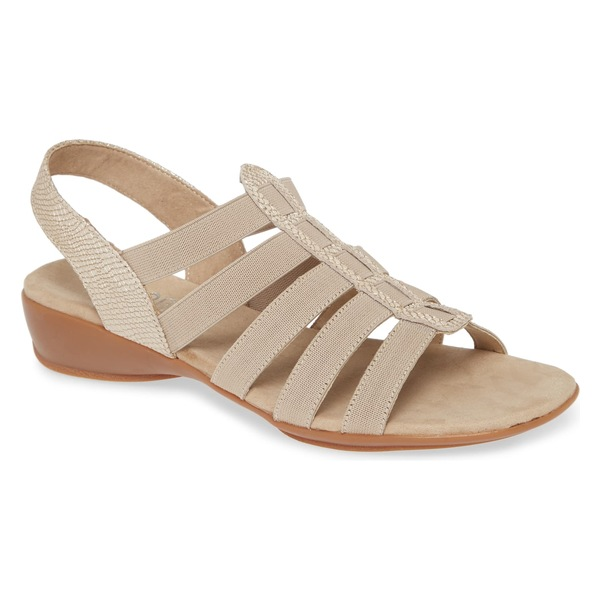 ムンロー レディース サンダル シューズ Munro Darian II Sandal (Women) Gold Print Leather