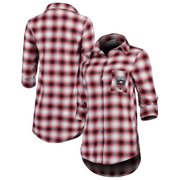 コンセプトスポーツ レディース シャツ トップス D.C. United Concepts Sport Women's Forge Plaid Tunic Black/Red