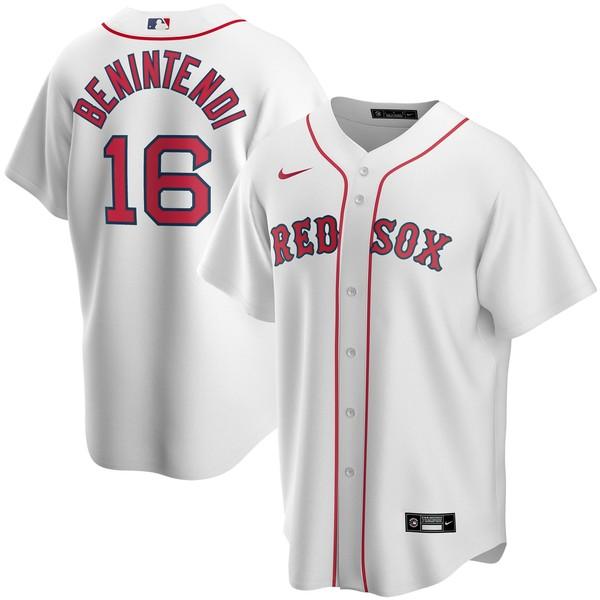 ナイキ メンズ ユニフォーム トップス Andrew Benintendi Boston Red Sox Nike Road 2020 Replica Player Jersey Gray