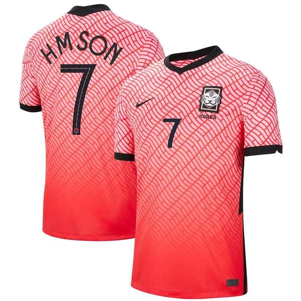 ナイキ メンズ ユニフォーム トップス Son Heungmin South Korea National Team Nike Home Breathe Stadium Replica Player Jersey Pink
