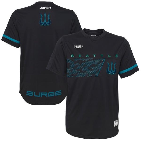 アウタースタッフ メンズ ユニフォーム トップス Enable Seattle Surge Away Jersey Black