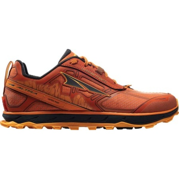 アルトラ メンズ スニーカー シューズ Lone Peak 4.0 Low RSM Trail Running Shoe Burnt Orange