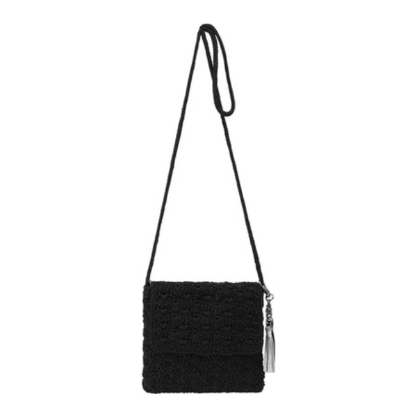 ザサック レディース ハンドバッグ バッグ Costa Mesa Mini Flap Crossbody Bag Black Scallop Sparkle