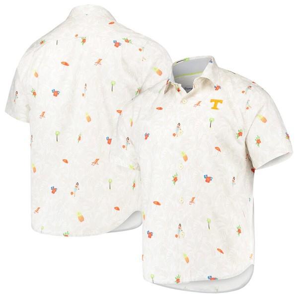 トッミーバハマ メンズ シャツ トップス Tennessee Volunteers Tommy Bahama College Beach-Cation Button-Up Shirt White