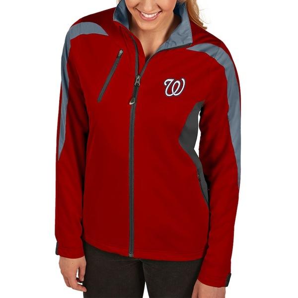 アンティグア レディース ジャケット&ブルゾン アウター Washington Nationals Antigua Women's Discover Full-Zip Jacket Red