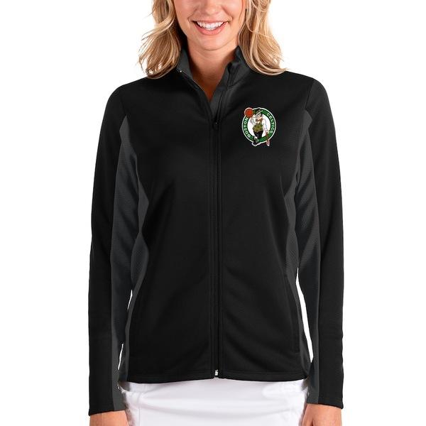 アンティグア レディース ジャケット&ブルゾン アウター Boston Celtics Antigua Women's Passage Full-Zip Jacket Black/Charcoal