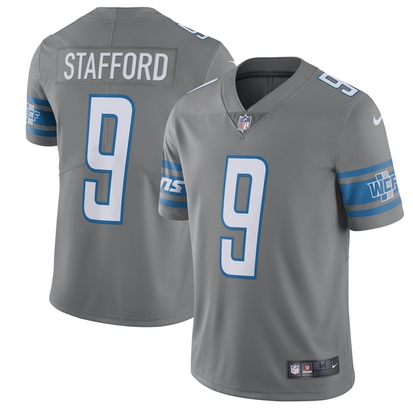 ナイキ メンズ シャツ トップス Matthew Stafford Detroit Lions Nike Vapor Untouchable Color Rush Limited Player Jersey Steel