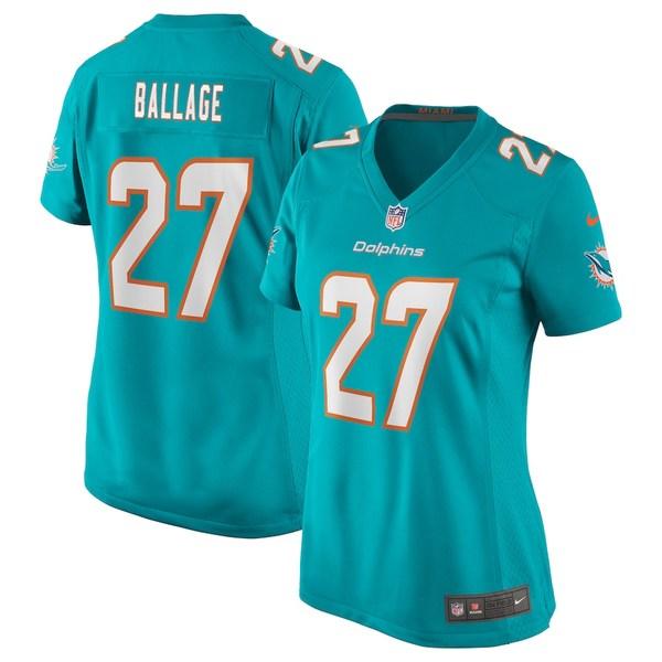 ナイキ レディース シャツ トップス Kalen Ballage Miami Dolphins Nike Women's Game Jersey Aqua