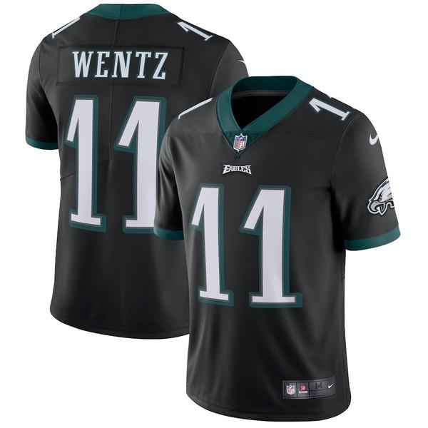 ナイキ メンズ シャツ トップス Carson Wentz Philadelphia Eagles Nike Vapor Untouchable Limited Player Jersey Black