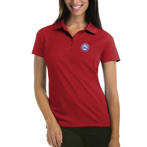 アンティグア レディース ポロシャツ トップス Philadelphia 76ers Antigua Women's Pique Xtra-Lite Polo Red